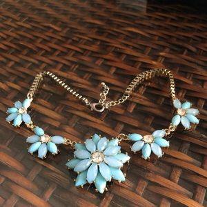Francesca's Necklace Blue Floral